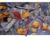Kakis, 2016. Aquarelle et pointe d'argent