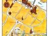 Mapa Saragossa. Aquarel·la i tinta xinesa. NH Hotels