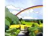 Jardin de campagne. Aquarelle et encre. Agenda Louise L.Hay 2008.Ed. Urano
