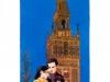 Sevilla, carte postale. Aquarelle et encre. NH Hoteles