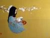 2015 Joven Momoko. Óleo sobre tela y tinta china 81 x 54 cm.