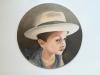 2019. Piccolo Lorenzo. Oil and India ink on linen canvas, 20 cm. diameter.