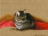 Ricardo le chat 2007. Huile sur toile